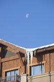 Icicle on roof Royalty Free Stock Photography