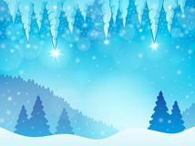 Icicle theme image 3 Royalty Free Stock Image