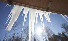 Icicle under the sunshine Stock Images