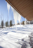 Icicle under the sunshine Royalty Free Stock Image
