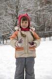 icicles девушки Стоковые Фото