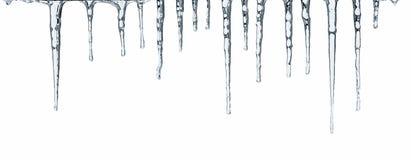 icicles изолировали белизну Стоковое Изображение RF