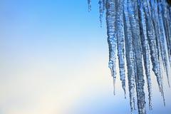 icicles таяя Стоковая Фотография RF