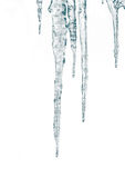Icicles. Isolate on a white background Stock Images