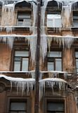 Icicles. Stock Photo