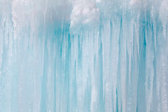 Icicles. Texture background in winter Stock Image