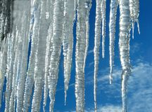 Icicles. Spring candies is always nice royalty free stock photography