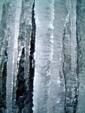 Icicles 3. Icicles grown over a number of days in a waterfall, close up shot Stock Images