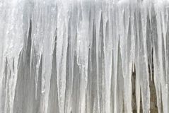 Icicles. Wintertime -  Icicles pattern. Can be used as a background Royalty Free Stock Image