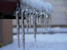 Icicles. Winter & frost Stock Photo