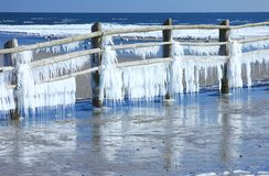 Icicles at the Baltic Sea Royalty Free Stock Photo