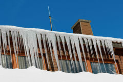 Icicles in the black forest, germany Stock Photo