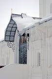 Icicles. Boris and Gleb monastery in Dmitrov city, Moscow region, Russia Royalty Free Stock Photos