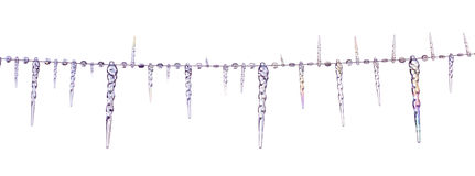 Icicles christmas decoration border Stock Photos
