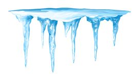 Icicles Cluster royalty free illustration