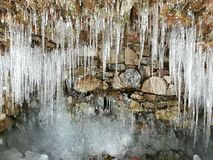 Icicles At Cave Stock Images