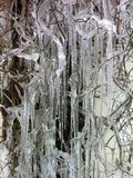 Icicles on a cold winters day Royalty Free Stock Image