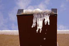 Icicles dripping. Stock Image