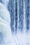 Icicles formation in waterfall Royalty Free Stock Photos