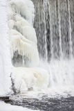 Icicles formation in waterfall Stock Photography