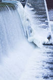 Icicles formation in waterfall Stock Photos