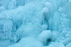 Icicles of frozen waterfall Stock Image