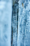 Icicles from a frozen waterfall Royalty Free Stock Photos