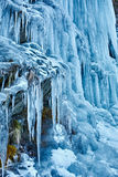 Icicles from a frozen waterfall Royalty Free Stock Photography