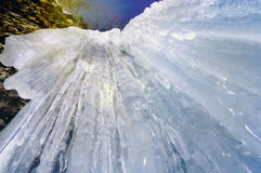 Icicles  frozen waterfall. Royalty Free Stock Images