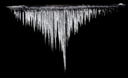 Icicles Gauss distribution royalty free stock image