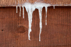 Icicles hanging down Stock Photos