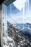 Icicles. The icicles in high mountain Stock Images