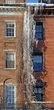 Icicles on a house facade Stock Photography