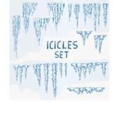 Icicles Ice Winter Set Stock Image