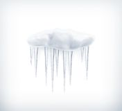 Icicles, icon Royalty Free Stock Images