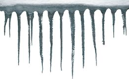 Icicles, isolated, clipping path Stock Photo