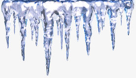 Icicles isolated Royalty Free Stock Images
