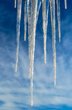 Icicles Isolated over Blue Sky Royalty Free Stock Photos