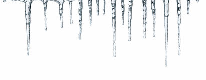 Icicles isolated on white Royalty Free Stock Image