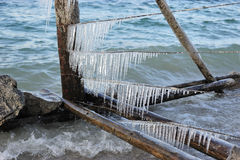 Icicles Lake Royalty Free Stock Images