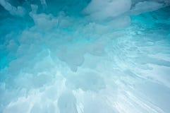 Icicles on Lake Baikal. View of icicles on Lake Baikal, Siberia, Russia royalty free stock photo