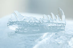 Icicles macro view. Winter cold weather landscape. Soft focus Royalty Free Stock Images