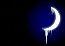 Icicles on moon Royalty Free Stock Images