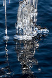 Icicles On A Lake Royalty Free Stock Photography