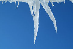 Icicles On Sky 2 Royalty Free Stock Photos