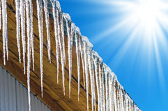 Free Icicles On The Roof Royalty Free Stock Photo - 51109275