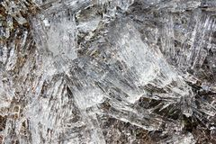 Icicles of river ice. Ice is like a crystal. Royalty Free Stock Photos