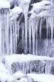 Icicles on Rocks, Sierra Mountains, California Royalty Free Stock Photos