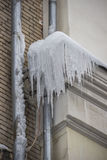 Icicles on the roof Royalty Free Stock Photos