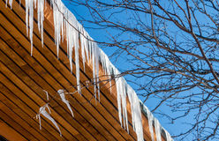 Icicles and Roof Stock Photos